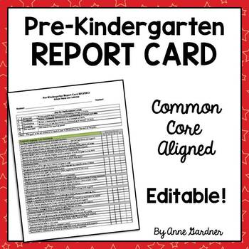 Pre-Kindergarten Report Card Aligned with Common Core