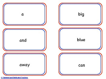 Pre-Kindergarten Sight Word Memory