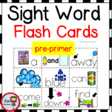 Pre-Kindergarten Sight Word Flash Cards with picture cues