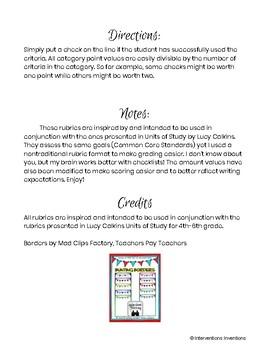Pre-Kindergarten Writing Rubric Bundle