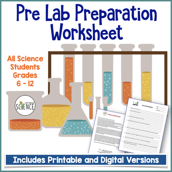 Pre Lab Worksheet For Any Science Lab By Amy Brown Science Tpt