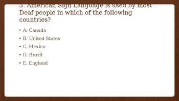 Pre Language Quiz
