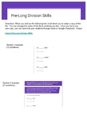 Pre Long Division Skills - Becoming Efficient at Partial Quotient Division