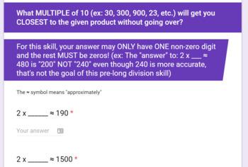 Pre Long Division Skills - Becoming Efficient at Partial Quotient Division