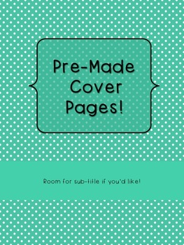 10 Pre-Made Polka Dot Cover Pages for Binders and Covers in Bright Colors