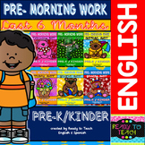 Pre - Morning Work Bundle - Last 6 Months