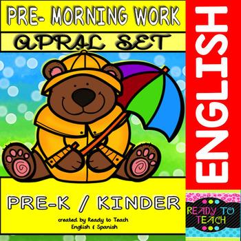Pre - Morning Work Complete Set (Sheets for April )
