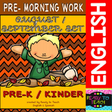 Pre - Morning Work  Complete Set  (Sheets for August and September )