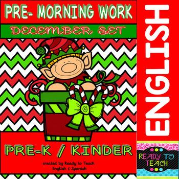 Pre - Morning Work Complete Set (Sheets for December )