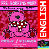 Pre - Morning Work Complete Set (Sheets for February )