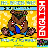 Pre - Morning Work Complete Set (Sheets for June )