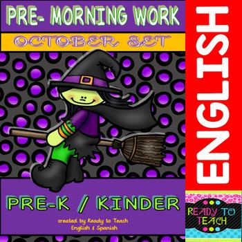 Pre Morning work (October Sheets)