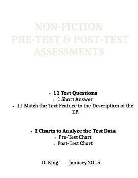 Pre & Post Test Assessment on Non-Ficition Text Features