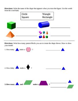 Pre-Post Test Geometric Shapes