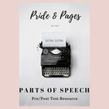 Pre/Post Test on Parts of Speech