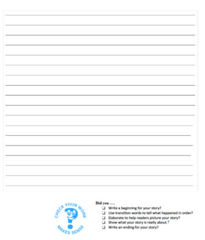 TC Pre & Post On Demand Writing Assessment: Narrative Writing
