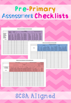 Pre-Primary Assessment Checklists SCSA Aligned- WA Curriculum
