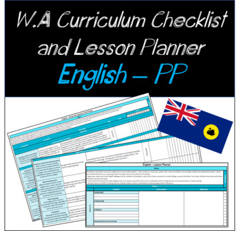 Pre-Primary English Western Australian Curriculum Checklist and Lesson Planner