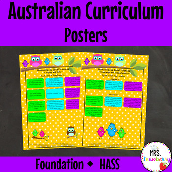 Foundation Australian Curriculum Posters {HASS} Humanities