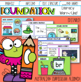 Editable Pre-Primary & Foundation Literacy Warm-ups Australian Distance Learning