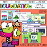 Editable Pre-Primary & Foundation English Warm-ups Austral