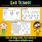 Pre-Primary / Foundation Exit Tickets - Australian Curriculum Aligned