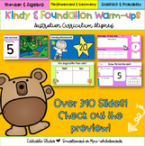 Editable Kindergarten & Foundation Math Warm-Ups Australian Distance Learning