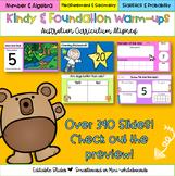 Editable Kindergarten & Foundation Math Warm-Ups Australia