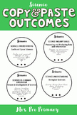 Pre Primary Quick Copy & Paste Science Outcomes