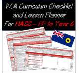 Pre-Primary to Year 6 HASS Western Australian Curriculum Checklist and Planner