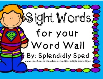 Sight Words for k-2