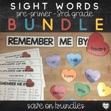 Pre-Primer - 3rd Grade Sight Words : Heart Word Wall Bundle
