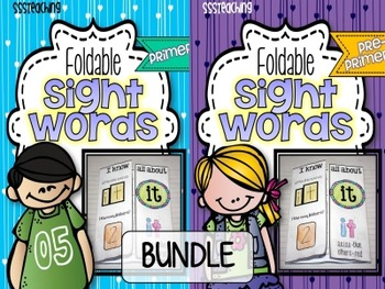 Pre-Primer AND Primer Interactive Foldable Sight Words BUNDLE