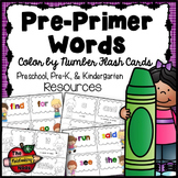 Pre-Primer Color By Number Flash Cards