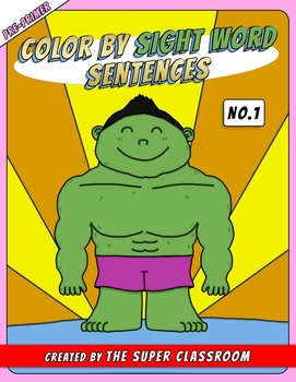 Pre-Primer: Color by Sight Word Sentences - 001