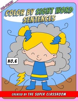 Pre-Primer: Color by Sight Word Sentences - 006