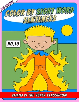 Pre-Primer: Color by Sight Word Sentences - 010