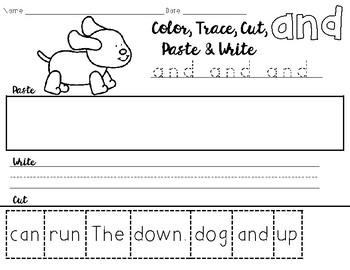 Pre Primer Cut and Paste Sentences
