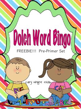 Pre-Primer Dolch Word BINGO