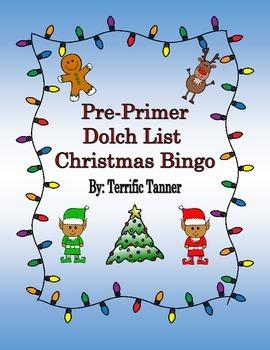 Pre-Primer Dolch Christmas Bingo