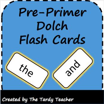 Pre-Primer Dolch Flash Cards