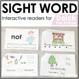 Pre-Primer Dolch Sight Word Books | Printable Dolch Sight