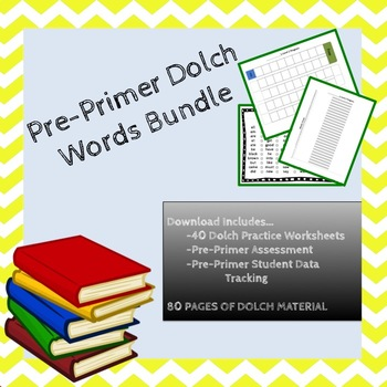 Pre Primer Dolch Sight Word Bundle