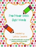 Pre-Primer Dolch Sight Word Cards
