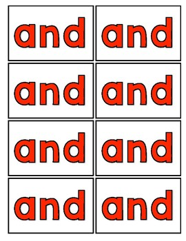 Pre- Primer Dolch Sight Word Cards