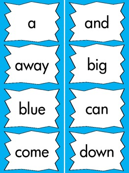 Pre-Primer Dolch Sight Word Cards & Checklist