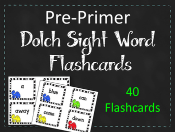 Pre-Primer Dolch Sight Word Flashcards. Dinosaurs. Dinos