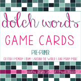 Pre-Primer Dolch Sight Word Game Cards