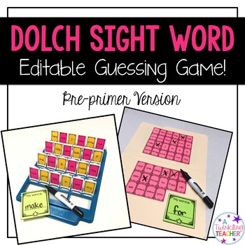Pre-Primer Dolch Sight Word Guessing Game!