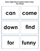 Pre-Primer Dolch Sight Word Inspired Flash Cards {Print and Go}